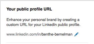 LinkedIn URL aanpassen stap 3