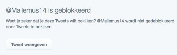 De Twitter Spambot is nu geblokkeerd