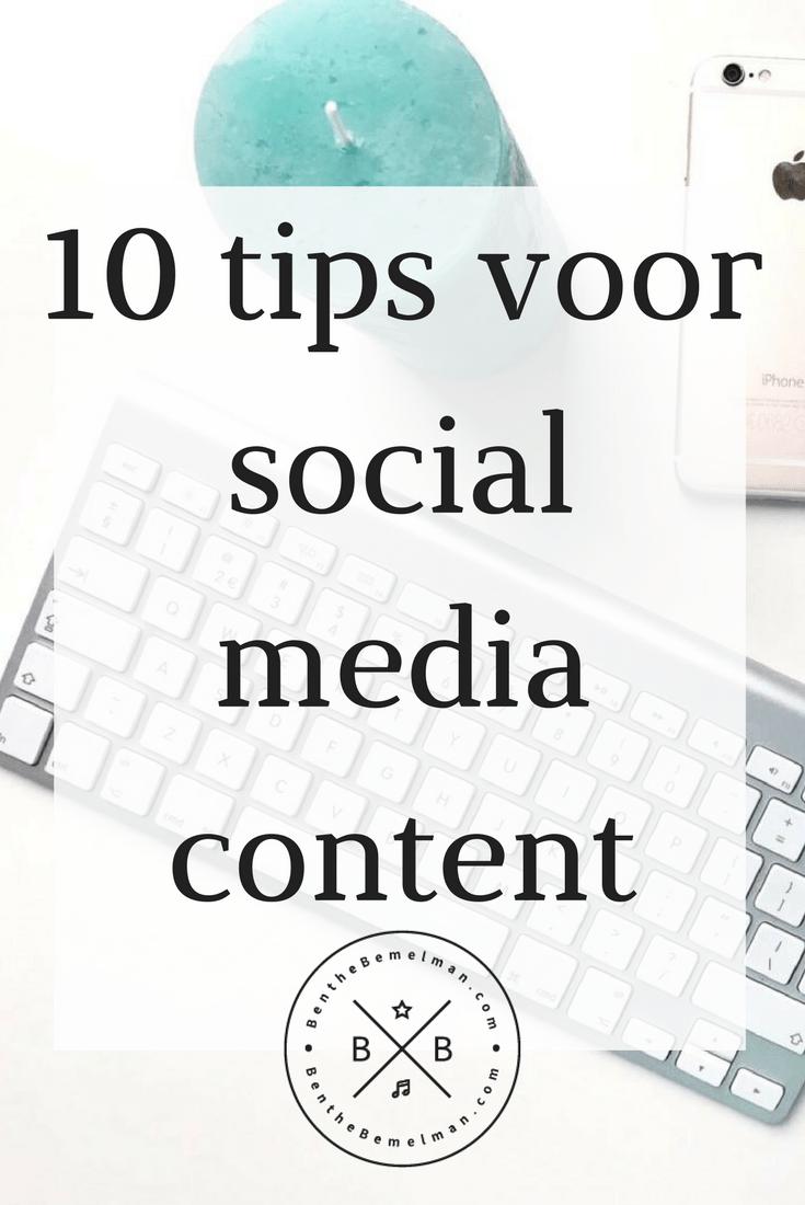 10 tips voor social media content