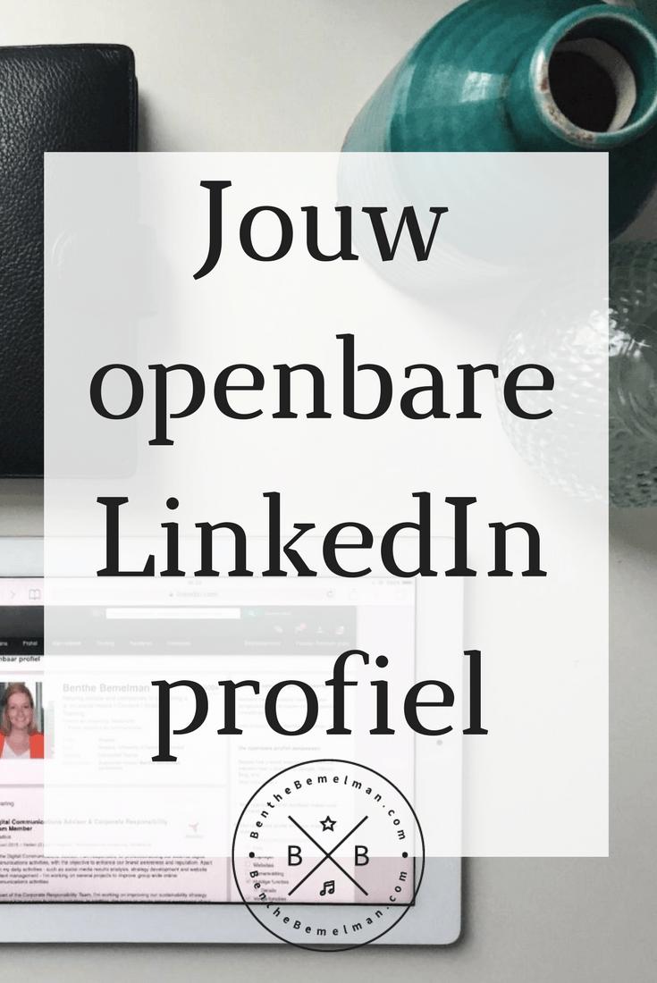 Jouw openbare LinkedIn profiel