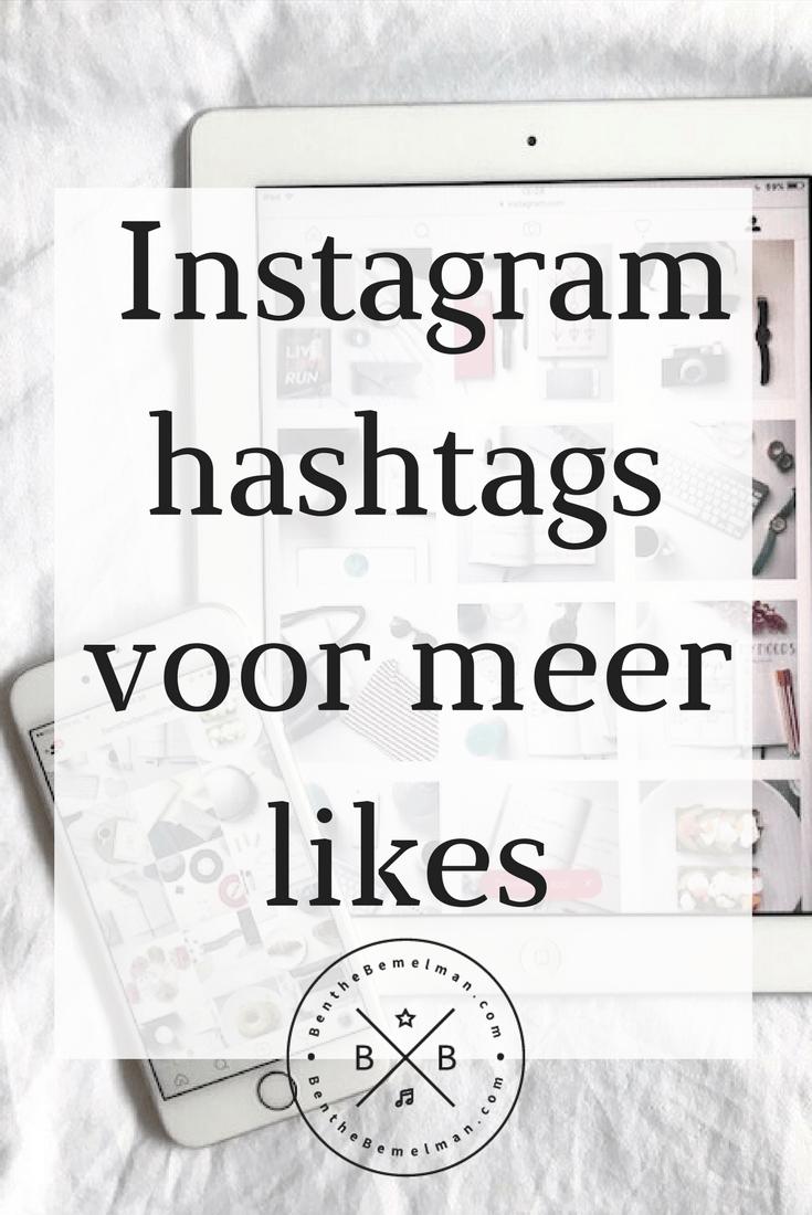 hashtags voor meer instagram likes